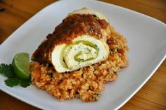 Recipe for gluten and dairy free chicken chile rellenos realhealthyrecipes.com I don't want stuffed chicken breasts, which is what this really is, but some if the ideas in this recipe are good.