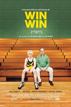 Win Win - A struggling lawyer and volunteer wrestling coach's chicanery comes back to haunt him when the teenage grandson of a client he double-crossed comes into his life. Disheartened attorney Mike Flaherty (Giamatti) moonlighting as a high school wrestling coach, stumbles across a star athlete through some questionable business dealings. Just as it looks like he will get a double payday, the boy's mother shows up fresh from rehab, flat broke, threatening to derail everything.