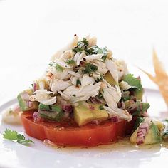 Chili Lime Crab Salad.  (Might try this with albacore tuna for lunch today! yum!)