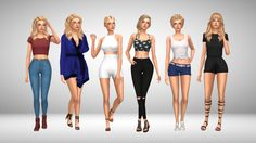 Maxis Match Lookbook 1. Hair - EA  Top [xx] -... - Immortalsims