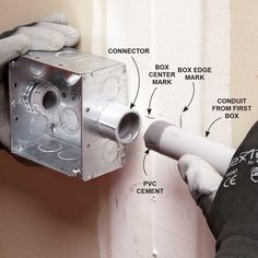 Install Electrical Boxes and PVC Conduit One Run a at Time - Installing PVC Conduit: http://www.familyhandyman.com/electrical/wiring/installing-pvc-conduit#6