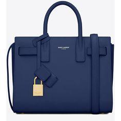 782138fa00 Saint Laurent Classic Baby Sac De Jour Bag In Blue Leather ( 1