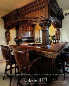 Great bar idea for a Victorian home.