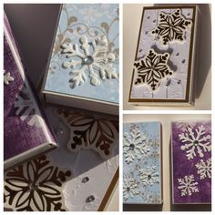 Matchbox with snow crystal paper decor Crafts To Make, Kids Crafts, 1st Grade Crafts, Free Christmas Coloring Pages, Reindeer Handprint, Diy Angels, Snow Activities, Snowflake Craft, Watercolor Christmas Cards