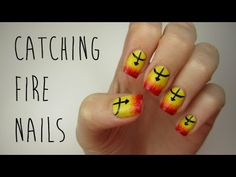 The Hunger Games: Catching Fire Nails So easy yet so cute! Totally gonna do this design today since I'm going to go see the movie today!