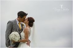 Love the background of cloudy sky  Lee and Michelle, Cripps Barn - Tracey Christina Photography