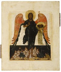Saint John the Forerunner - Russian, second half 17th century, vrezka
