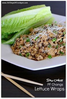 Slow Cooker Version of PF Chang's Lettuce Wraps