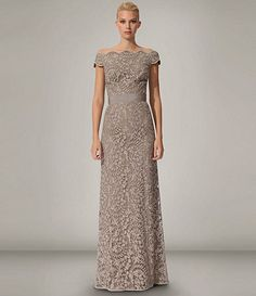 Adrianna Papell Plus Beaded Sheer-Sleeve Gown | Dillards, Gowns ...
