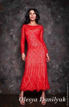 Платья ручной работы. Ярмарка Мастеров - ручная работа Красное платье. Handmade.
