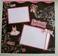Ballerina  Single 12x12 Scrapbook Page  Premade by KatlinLee123,
