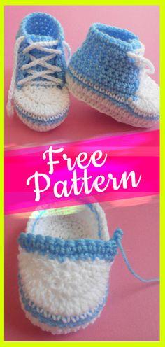 Baby Booties Crochet Pattern #babybootiescrochet #bootiesbaby