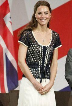 Kate Middleton Top free crochet graph pattern