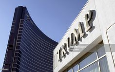 The Wynn Las Vegas resort is seen across the street from the $3 million sales plaza for the Trump International Hotel & Tower Las Vegas July 12, 2005 in Las Vegas, Nevada.