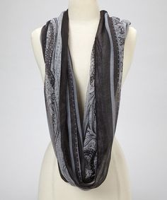Love this Black Paisley Scarf on #zulily! #zulilyfinds