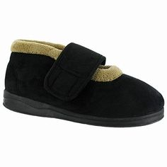 Mirak Jeane Touch Fastening Ladies Bootee Slipper / Womens Slippers (8 US) (Black) *** Check out the image by visiting the link.