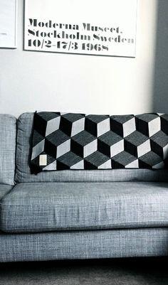 Via Ruthie0 | Ferm Living Cube Blanket | Moderna Museet
