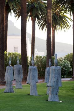 Deborah Bell's ethereal Return of the Gods: The Ancient Ones - one of nineteen works of art presented by Everard Read Cape Town in the lush gardens at Belmond Mount Nelson Hotel, Cape Town. Until the end of April 2016.