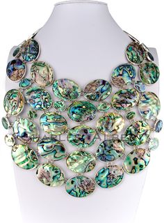 Style #LBN24: Abalone Necklace set in sterling silver. Retail $2,100