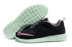 d9fbb4ef642a Speciale Aanbieding Roshe Run FB Yeezy Nike Herenschoenen Zwart Mintgroen  Popular Sneakers