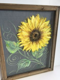 It looks awesome when displayed on front porches, or back decks. This piece can also be customized to your liking. Just send me a message and we will work something out! A few notes a. Painted Window Screens, Window Art, Sunflower Art, Pallet Art, Outdoor Art, Tole Painting, Porch Decorating, Painting Inspiration, Wood Art