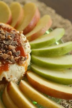 Carmel Cheesecake Apple Dip! Perfect for parties!