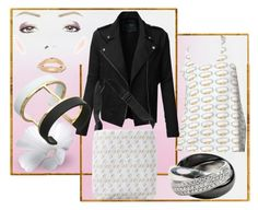 """""""Gold and silver with black"""" by julemstudio ❤ liked on Polyvore featuring LE3NO, Cartier and Vince Camuto"""