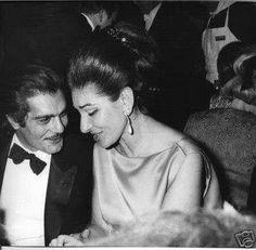 Maria Callas and Omar Sharif
