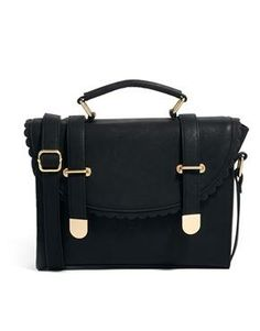Satchel Bag With Scallop Flap And Metal Tips / ASOS