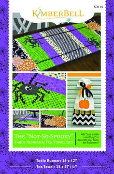 Not-So-Spooky Table Runner and Tea Towel Set | YouCanMakeThis.com