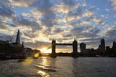 sunset by the London bridge