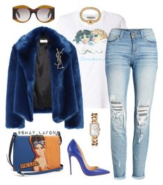 """""""Untitled #271"""" by shaquette-carroll on Polyvore featuring Fiorucci, Dries Van Noten, SP Black, Christian Louboutin, Prada, Yves Saint Laurent, Gucci and Chanel"""
