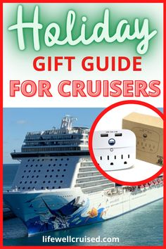 Looking for the perfect gift for someone who loves to go on cruises? This holiday gift guide has over 50 gift ideas for the cruise traveler. From useful cruise travel gadgets and accessories, to fun items all from Amazon. #cruise #holidaygiftguide #travelgiftguide #cruiseessentials