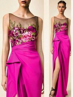 By Solange Maria Soccol Elegant Dresses, Beautiful Dresses, Formal Dresses, The Dress, Dress Skirt, Gala Dresses, Embroidery Dress, Couture Fashion, Dress Collection