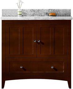 AMERICAN IMAGINATIONS American Imaginations Shaker Rectangle Floor MountSingle Hole Center Faucet Vanity Set. #ad http://shopstyle.it/l/qMbo