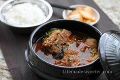 Korean Pork Bone Soup (Gamjatang) - Life made Sweeter