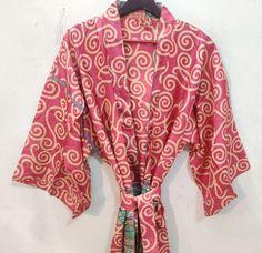 Silk Robe Long, Silk Kimono Robe, Long Kimono, Kimono Dress, Indian Silk Sarees, Pure Silk Sarees, Festival Outfits, Festival Clothing, Traditional Fashion