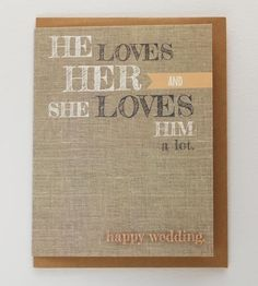 He Loves Her Wedding Card Set by Rebekah J Designs on Scoutmob Shoppe Stationery Paper, Wedding Stationery, Wedding Invitations, Wedding Wows, Dream Wedding, Wedding Dreams, Cute Wedding Ideas, Wedding Inspiration, Witty Comments