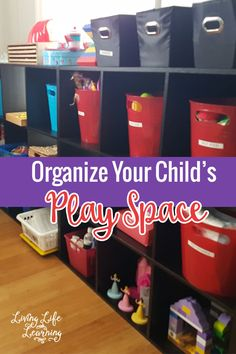 Get your room organized with a wonderful tool and get tips on how to get your kids to help your organize your child's play space