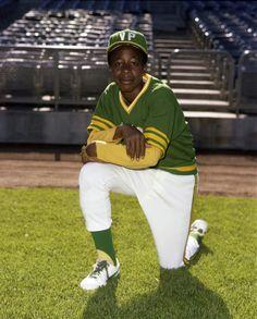 Can't touch this! MC Hammer as an Oakland A's bat boy.