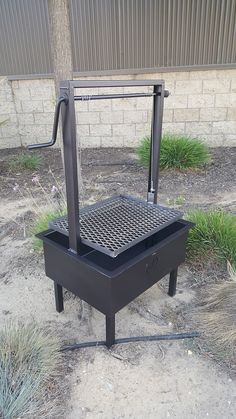 Santa Maria Style BBQ. Designed and Fabricated by JD Fabrications. Our pits are completely welded together eliminating bolts. Our standard pits are 9″ deep, 14″ wide, and constructed of heavy 11 gauge steel. The crank guide stands 20″ off the rim of the BBQ pit giving you over 25″ of adjustable cooking height. This feature allows you to cook your meat at a desired heat stopping you from burning your meat. All our pits can be custom made please contact us with your ideas and we will make your…
