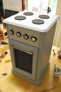A Little Learning For Two:DIY Play Oven/Stove Project...easy instructions and such a frugal piece of furniture for the kids!!