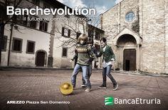 #Arezzo, Piazza San Domenico: Banchevolution - Il futuro al centro dell'azione (2014).