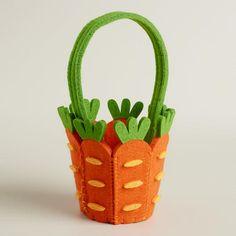 One of my favorite discoveries at WorldMarket.com: Mini Carrot Felt Easter Basket