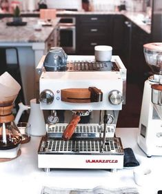 Inspired by an espresso icon. Linea mini looking beautiful & restocked! Shop Lin… Inspired by an espresso icon. Linea mini looking beautiful & restocked! Shop Linea Mini Link in Bio by La Marzocco Home Coffee And Espresso Maker, Cappuccino Maker, Best Espresso Machine, Cappuccino Machine, Espresso Coffee, Coffee Maker, Coffee Bar Home, Coffee Barista, Coffee Latte
