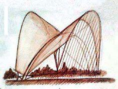 Santiago Calatrava Sketch #SantiagoCalatravaArchitecture Pinned by www.modlar.com