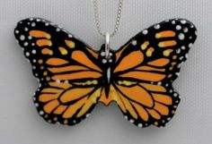 Butterfly June and her amazing Butterfly necklaces