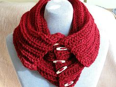 Knitted Scarves – Knitted neckwarmer,neckwrap,scarf,valentine's day – a unique product by svetoks on DaWanda