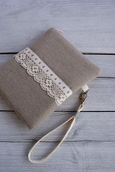 Apple iPad mini case/ linen/ wrislet by sandrastju on Etsy, $28.00