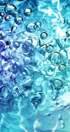 Find out Water Bubbles wallpaper on Retina Wallpaper, I Wallpaper, Bubbles Wallpaper, Water Art, Cool Backgrounds, Textured Wallpaper, Blue Aesthetic, Cute Wallpapers, Shades Of Blue